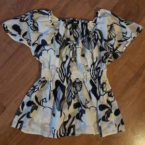 H&M Floral Peplum Shirt